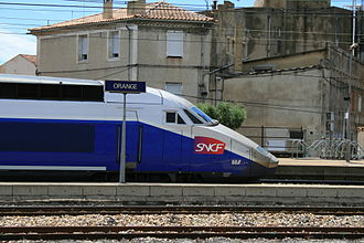 SNCF TGV Duplex - Réseau Duplex in Orange, Vaucluse