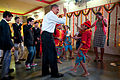 Obama dancing at Holy Name High School in Mumbai.jpg