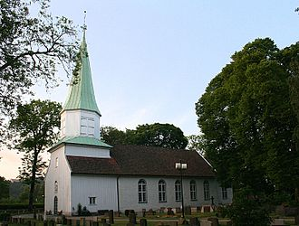 Kristiansand - Oddernes Church in Kristiansand, erected around 1040