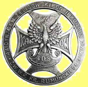 4th Rifle Division (Poland) - 4th Rifle Division badge