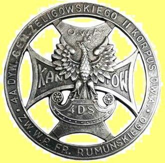 4th Rifle Division (Poland) - 4th Rifle Division badge