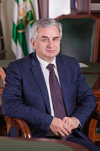 President of Abkhazia - Image: Official Photo of Raul Khajimba