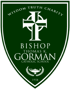 Bishop Thomas K. Gorman Catholic School - Image: Official school shield