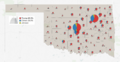 Oklahoma 2016 presidential results by county.png
