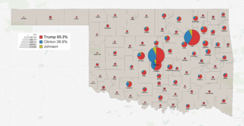 2016 United States Presidential Election In Oklahoma Wikipedia