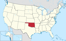 Map of the United States with Oklahoma highlighted