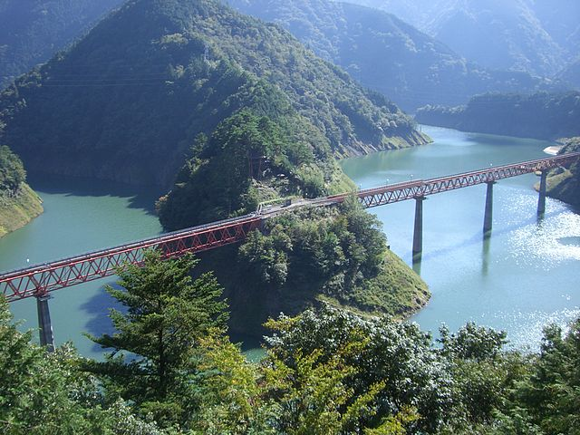 Oku-oi Rainbow Bridge on Oigawa railway.jpg