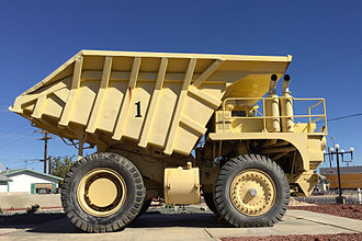 Boron, California - Old Ore Truck on display, Borax Visitor Center, Boron