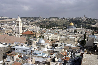 walled area within the modern city of Jerusalem