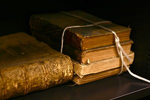 English: Old books