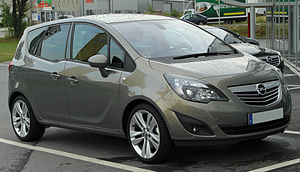 Opel Meriva - Image: Opel Meriva B front 20100723