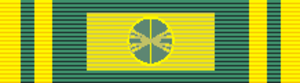 Order of San Carlos - Image: Order of San Carlos Grand Cross (Colombia) ribbon bar