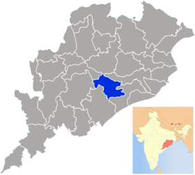 Localisation de District de Nayagarh