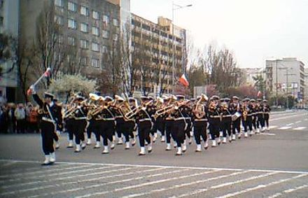 The Representative Band of the Polish Navy has served the musical needs of the Navy since 1920. Orkiestra Reprezentacyjna Marynarki Wojennej 1.jpg