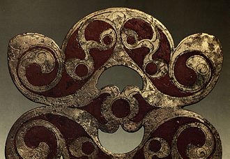 Champlevé - Celtic red enamel on horse-harness, Britain, c. AD 50