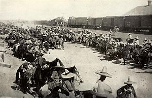 Pascual Orozco - Mexican troops in Chihuahua during Orozco's Rebellion