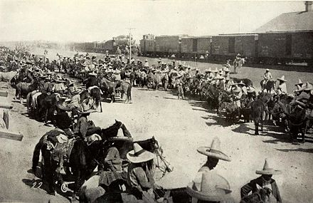 Mexican troops in Chihuahua during Orozco's Rebellion Orozco Revolution.jpg