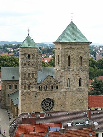 St. Peter's Cathedral, Osnabrück - Image: Osnabrück Dom Westseite