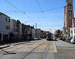 Outbound train at Judah and Funston, March 2019.JPG