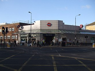 Oval tube station - Station entrance viewed from Kennington Park