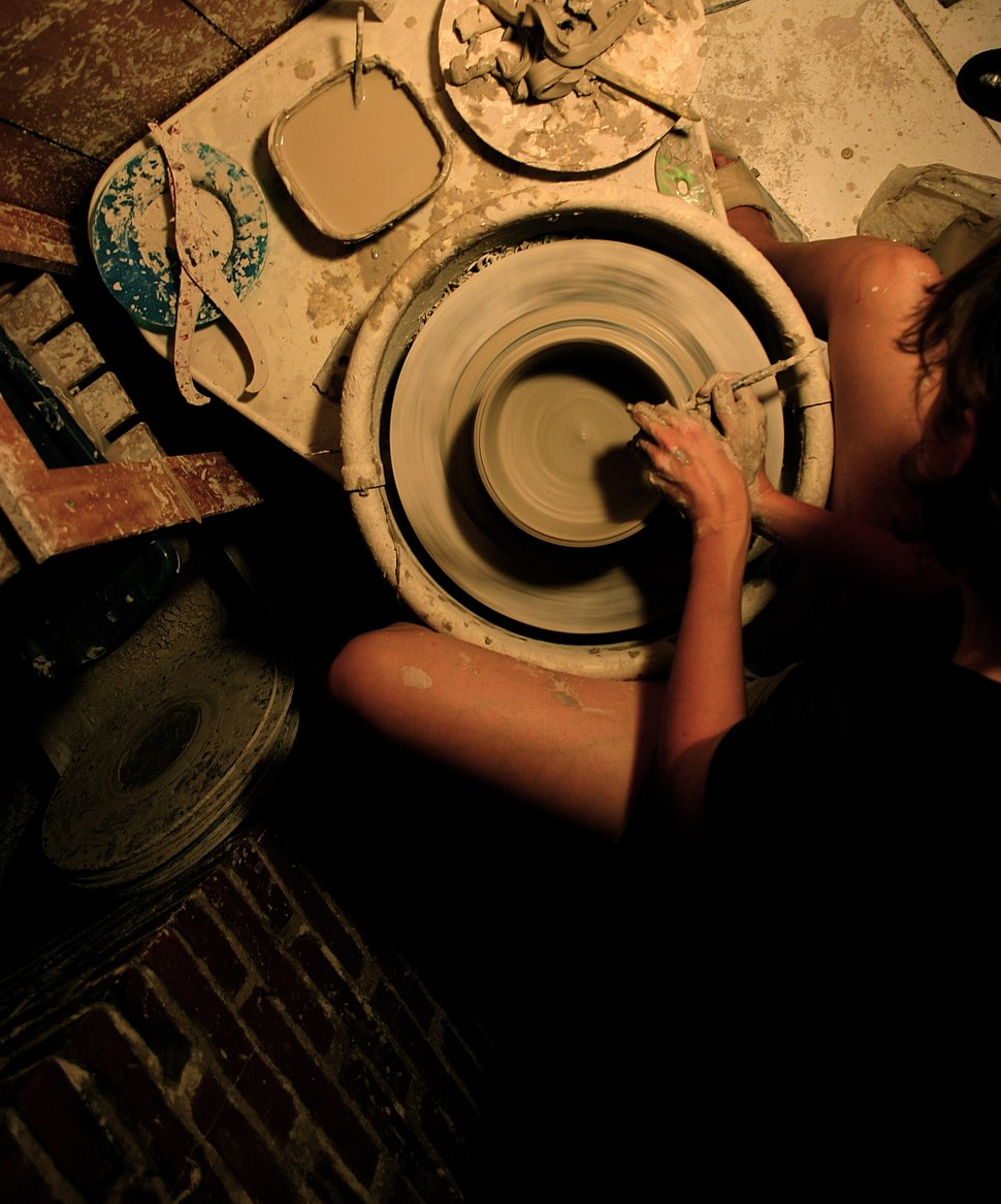 Overhead-View-Potter-at-her-wheel