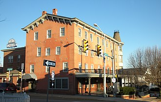 Baltimore Pike - Oxford Hotel, at 3rd and Market Streets, Oxford