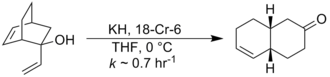 Cope rearrangement - Typical example of anion-accelerated oxycope reaction