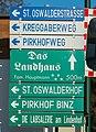 Pörtschach Sallach Sallacher Straße 34 St.-Oswalder Straße Wegweiser 8577.jpg