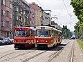 Předjízdná kolej Podbaba, cvička a Tatra T3M.jpg
