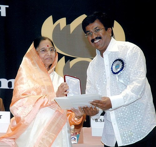 P. Sheshadri receiving the National Film Award for Best Film on Environment Conservation from President Pratibha Patil P. Sheshadri receiving the National Film Award for Best Film on Environment Conservation for Thutturi.jpg