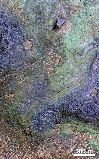 Compact Reconnaissance Imaging Spectrometer for Mars - Nili Fossae on Mars - largest known carbonate deposit.
