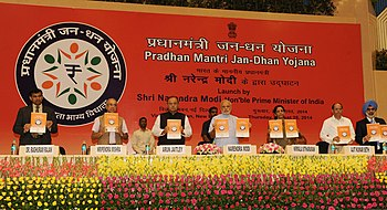 PM Modi launches the Pradhan Mantri Jan Dhan Yojana.jpg