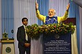 PM Modi speaking before flagging off the first train from Mendipathar, Meghalaya to Guwahati, Assam.jpg