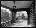 PORCH OF SECOND FLOOR GUEST CHAMBER - Highlands Ranch, 161 Holman Way, Sedalia, Douglas County, CO HABS COLO,18-SED.V,1-10.tif