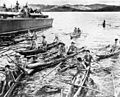 PT boat picks up survivors after Battle of Surigao Strait 1944.jpg