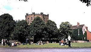 University College, Durham - The Keep as seen from Palace Green in 1973.
