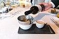 Palo Cortado-steamed langoustine, bisque veloute and Jerez caramel (15687038067).jpg