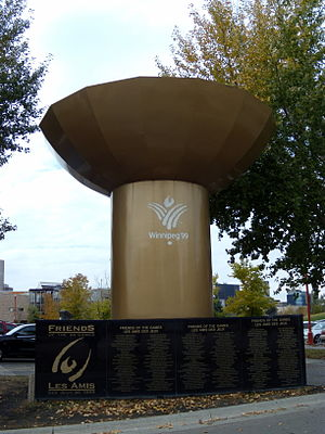 1999 Pan American Games - Pan Am Games monument at The Forks, Winnipeg