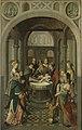Paneel van een altaarstuk met de besnijdenis (binnenzijde) en de opstanding (buitenzijde) Rijksmuseum SK-A-1308.jpeg