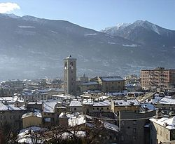 Panoramic view Sondrio