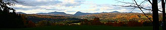 Northeast Kingdom - Panoramic view of Willoughby Notch and Mount Pisgah