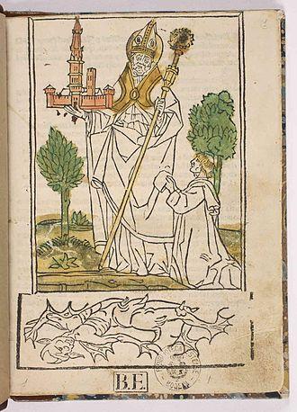 Geminianus - Giovanni Maria Parente, Vita di san Gimignano, 1495