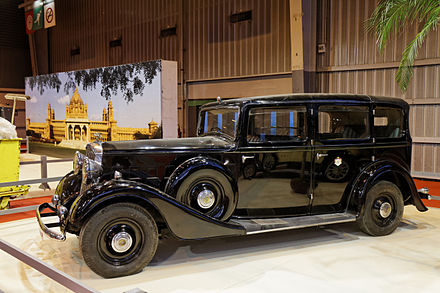 Landaulette on a Humber Snipe 80 chassis 1934 Paris - Retromobile 2014 - Humber Snipe 80 Landaulette par Thrupp & Maberley - 1934 - 004.jpg
