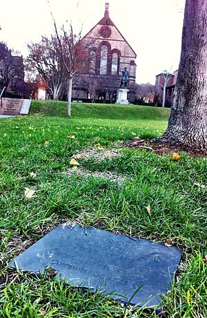 Paris Kanellakis - Image: Paris C. Kanellakis and family memorial tree and plaque, Brown University