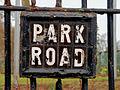 Park Road sign, Belfast - geograph.org.uk - 1767456.jpg