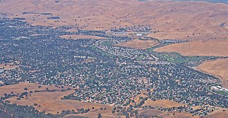 Clayton, California - Parts of Clayton as seen from Mt. Diablo in Summer 2005