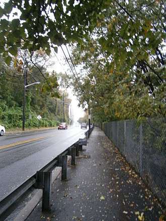 Paterson Plank Road - Ascending western slope of Palisades in North Bergen