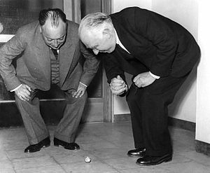 Wolfgang Pauli and Niels Bohr demonstrating 't...