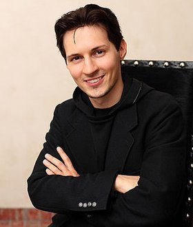 Pavel Durov sitting portrait