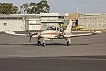 Pay's Helicopters (VH-NBI) Cessna 310R taxiing at Wagga Wagga Airport (1).jpg